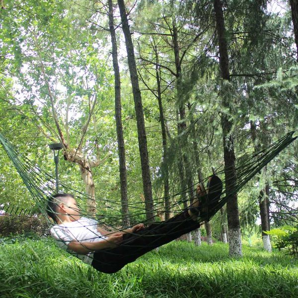 1Pc Portable Hammock Garden Outdoor Camping Travel furniture Mesh Hammock Swing Sleeping Bed Nylon HangNet