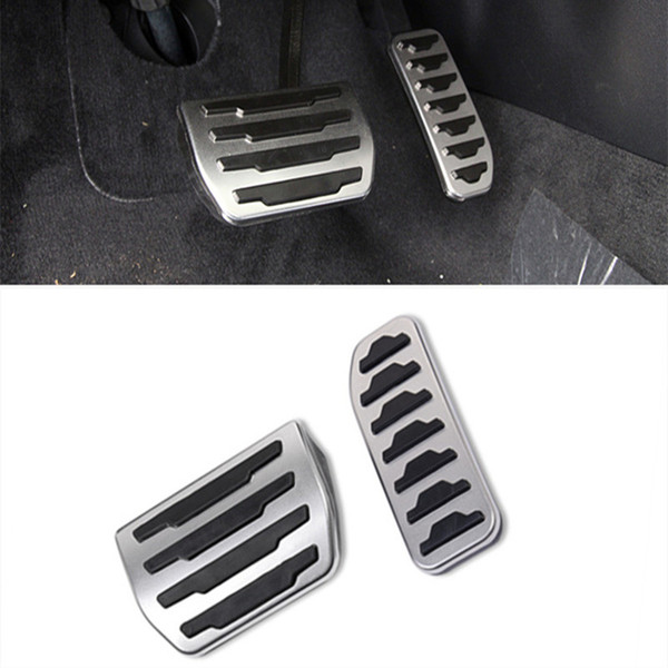 2pcs Stainless steel Accelerator Brake pedal decoration decals for Land Rover Discovery Sport/Evoque Car accessories