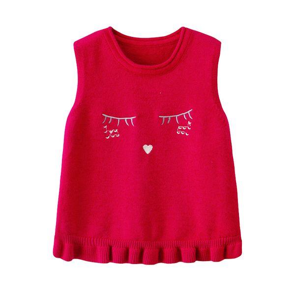 2018 autumn and winter new children's vest 100% cotton boutique Lolita clothing vest