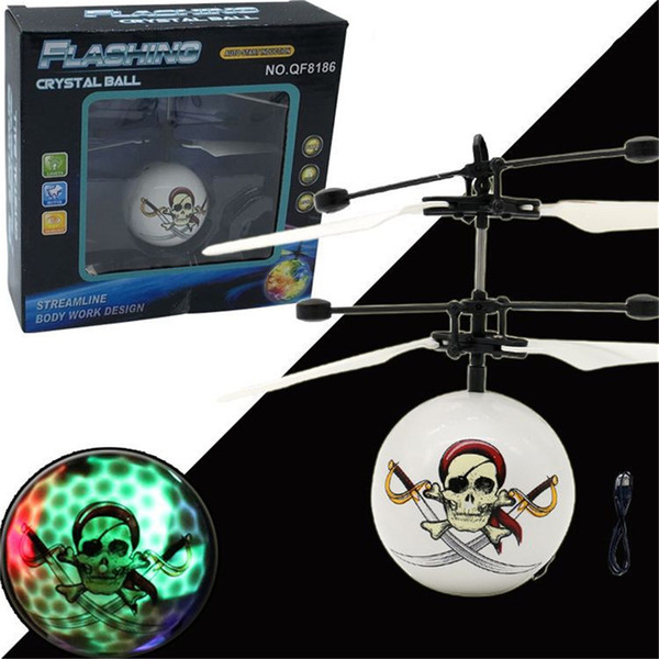 Crâne Motif Induction Fly Ball Suspension Intelligente Télécommande Jouet Avion Enfants Rechargeable Jouet D'induction