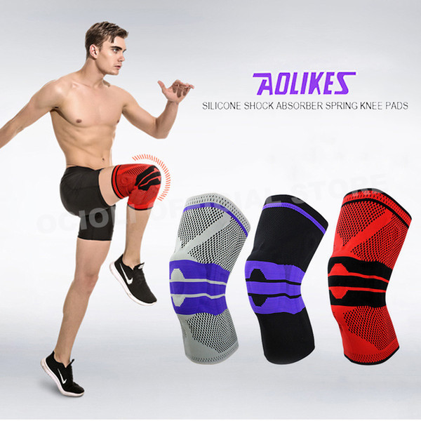 1pc Basketball Knee Brace Compression knee Support Sleeve Recovery Volleyball Fitness sport safety sport protection gear