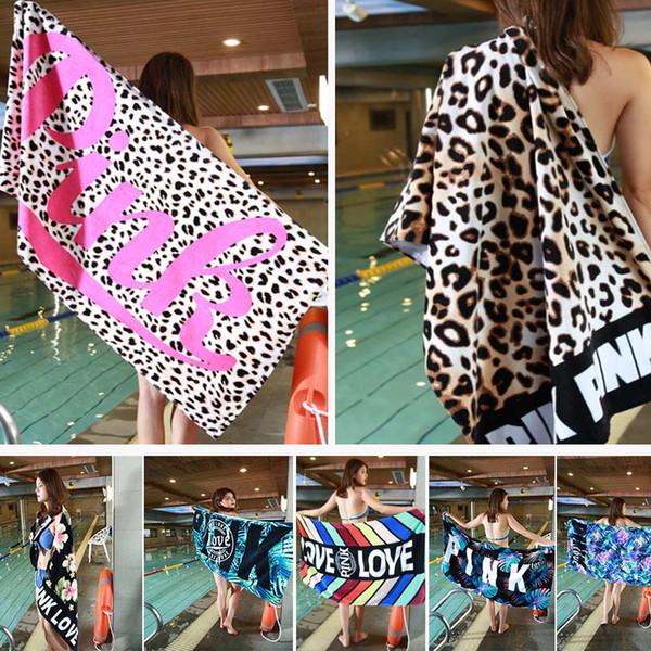 145 * 75 cm Toalla de playa suave Secado rápido al aire libre Deportes Natación Camping Baño Estera de yoga Manta Toallas de baño 6 colores WX9-523