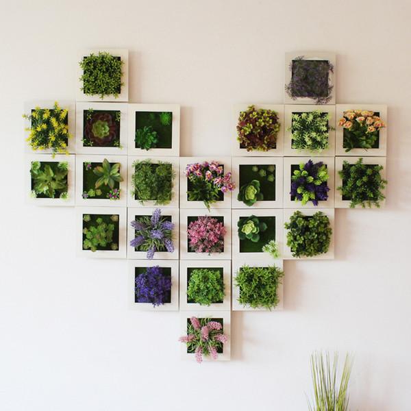 Plant Simulation Cadre photo Tenture 3D Trois Fleurs charnue artificielle dimensionnelle Originalité Salon Cadres pour 11 49ly gg