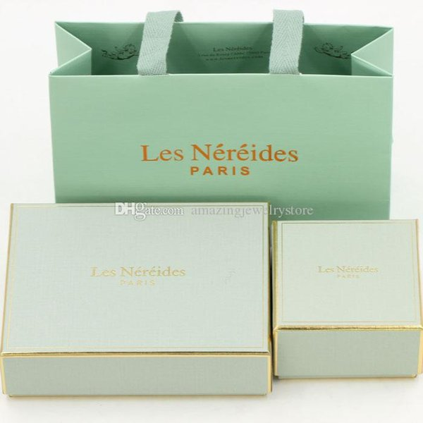 Les . Brand name Jewelry small and big Box and handbag with originla name jewelry package free shipping PS6808