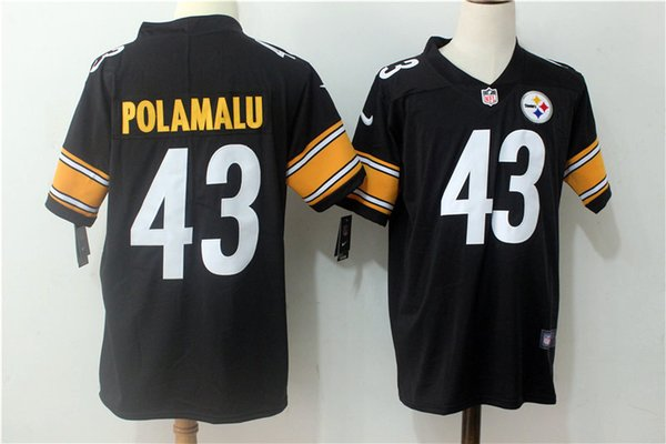 low priced b71b4 589f7 2019 2019 New Mens 43 Troy Polamalu Pittsburgh Jersey Steelers Football  Jerseys 100% Stitched Embroidery Troy Polamalu Color Rush Football Shirts  From ...