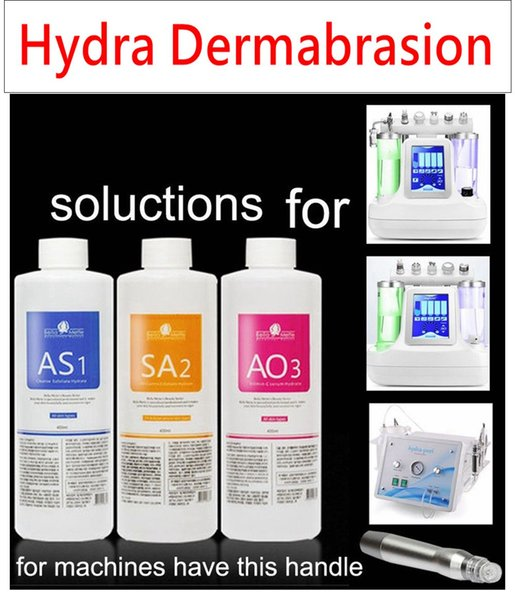 aqua peeling solution 3 bottles/400ml per bottle aqua facial serum hydra dermabrasion facial serum for normal skin
