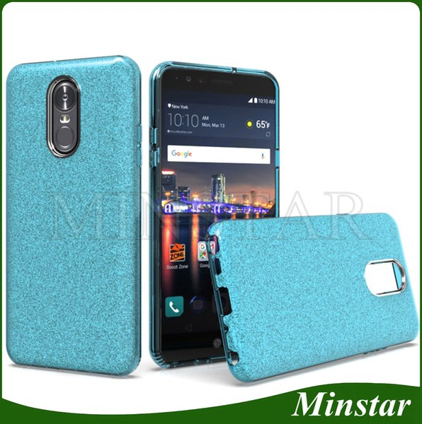 For LG Stylo 4 Metro PCS K10 K8 2018 K30 MS425 Aristo 3 2 X210 TPU PC 3in1 Shine Glitter Case Hot Sale Clear Cheap Gel Cover Ladies Girl