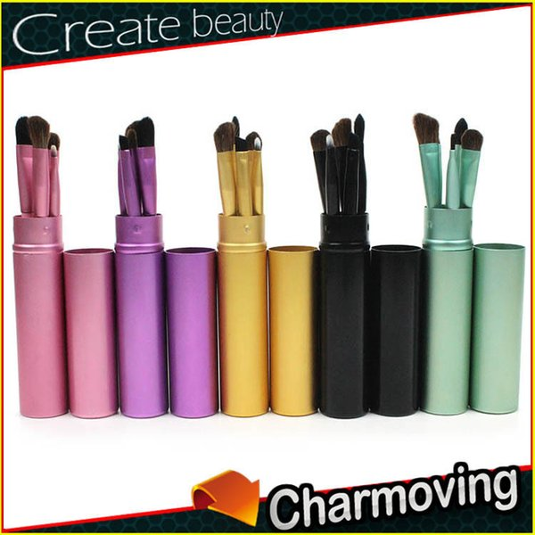 High-quality portable 5 colors cosmetic brush suit foundation brush blusher brush beauty and cosmetic tools T3F0046