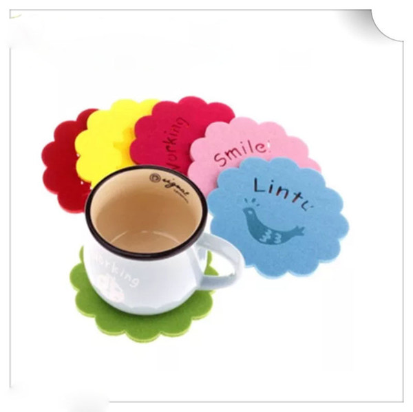 Felt Coasters For Heat Insulation Insulation Pad Antiskid Mat Cup Table Mat Bowl Cup Pads Mat Drink Coaster Placemat