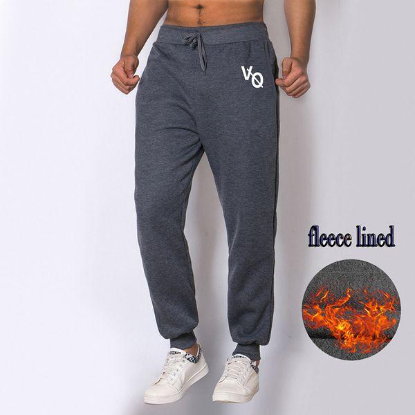 innovative design 9aa29 c9740 Moda 2018 nuevos pantalones de chándal para hombre Fitness Workout Winter  Fleece Pantalones Homme pantalones casuales