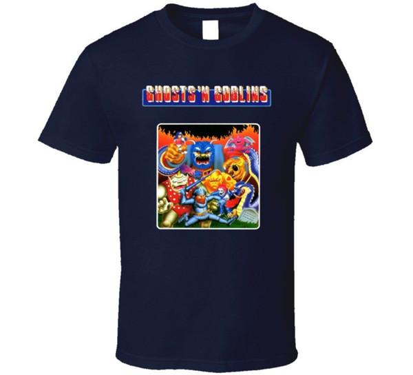 Ghosts N Goblins Retro Nes Video Game T Shirt Cartoon T Shirt Men Unisex New Fashion Tshirt Loose Size Top Ajax Funny T Shirts