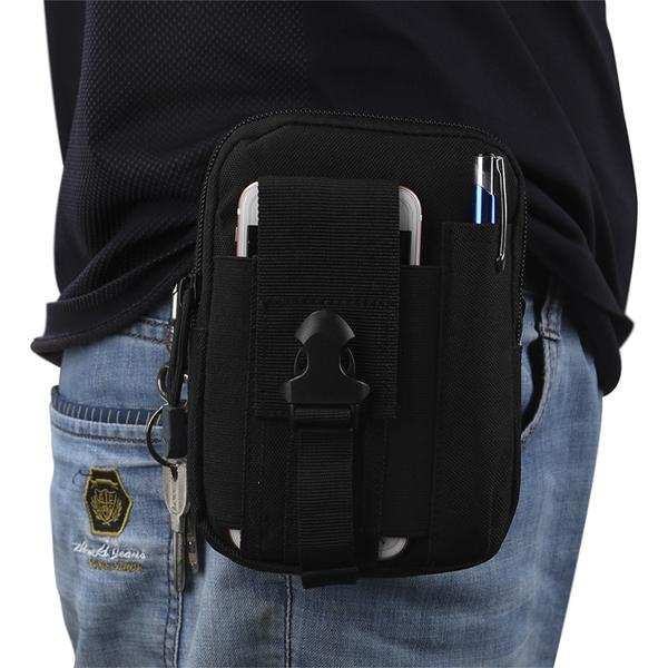 Tourbon Outdoor Sport Tactical Pouch Military Waist Pocket Phone Case Hiking Outdoor Gear Cell Phone Holster Holde