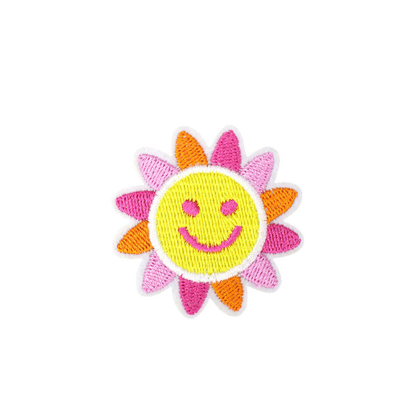 Diy Smile Sun Flower Patches for Applique Decoration Accessories Supplies Patch for Kids Clothing Embroidery Ironing Transfer Applique Patch