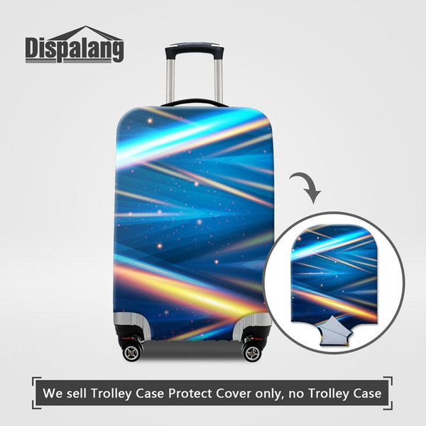 Case For Suitcase Thick Elastic Luggage Protector Cover For 18~30 Inch Trolley Cases 3D Striped Printed Rain Dustproof Travel On Road Covers
