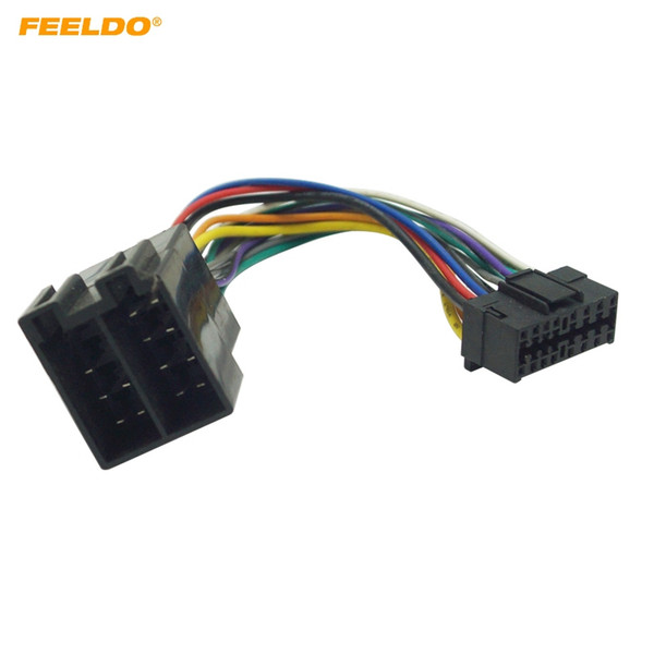 2019 FEELDO Car Stereo Radio Wire Harness Adapter For Sony 16 Pin Connector on