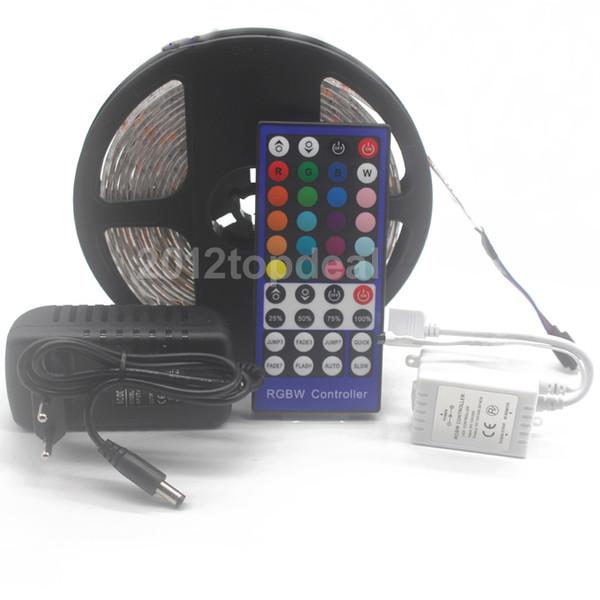 5050 RGB LED Strip DC 12V 5M 300LED RGBW//WW LED Light Strip with 3A Power+Remote