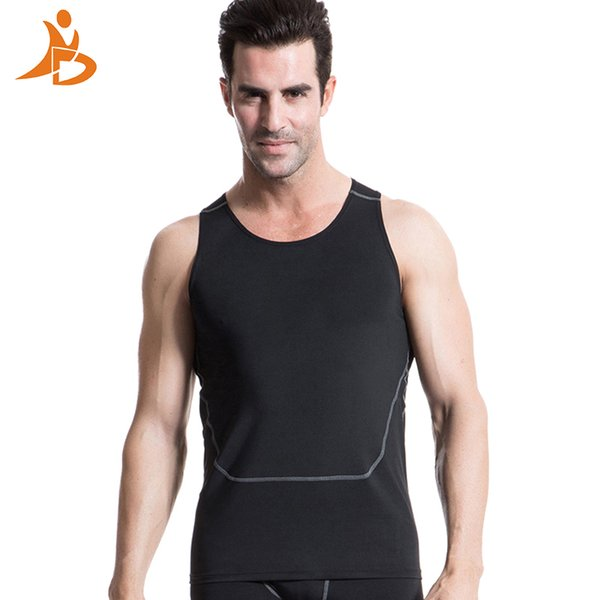 YD 2017 New High Elastic Logo Custom Sport Suit Training Sleeveless T-Shirt Workout Tank Top Fitness Tights Gym Men Running Vest