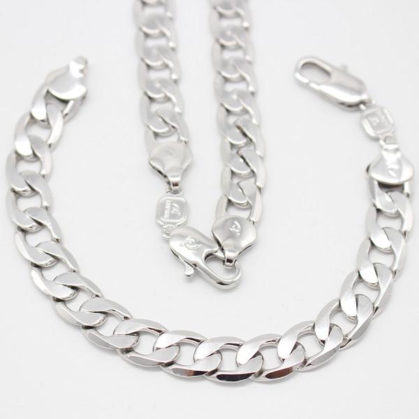 10mm 55cm Hommes Collier de la chaîne de bijoux EN ARGENT 925