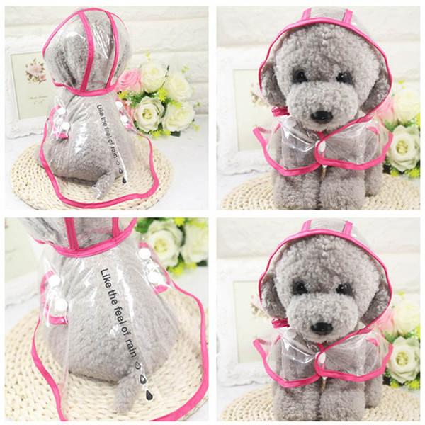 Transparent Pet Dogs Raincoat Soft PVC Puppy Waterproof rain jacket Rain Coat Pets Small Dogs Clothing Apparel XS-2XL