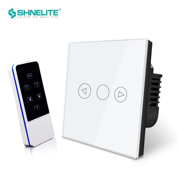 UK Wireless Touch screen light dimmer wall switch for Led Light,White Crystal Luxury Glass panel,220V interruptor remote control