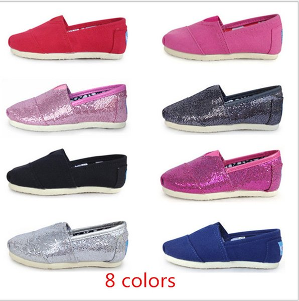 Summer Kids Sequins Sneakers mermaid cosplay Low-cut Canvas Shoes Children plimsolls flat casual leisure shoes dazzling cosplay Fashion