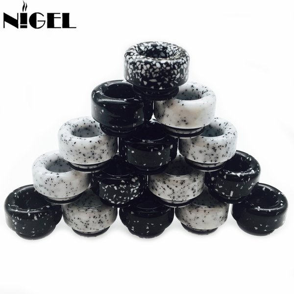 810 Marble Black and White Drip Tip For TFV8 TFV12 Griffin Atomizer Goon Kennedy RDA Tank Wide Bore Mouthpiece Vape Cigarettes