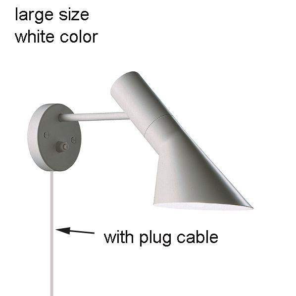 white, large size, with plug