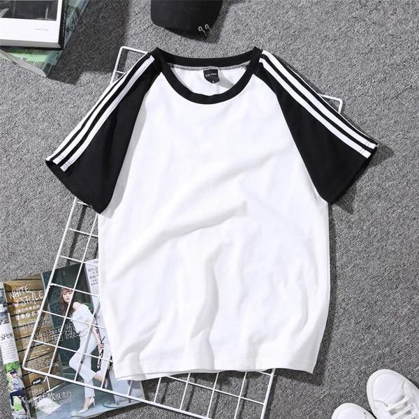 2018 ucuz Spor Kısa kollu T-shirt kadın kız için 2018 Yeni gevşek tees yaz Rahat T-shirt
