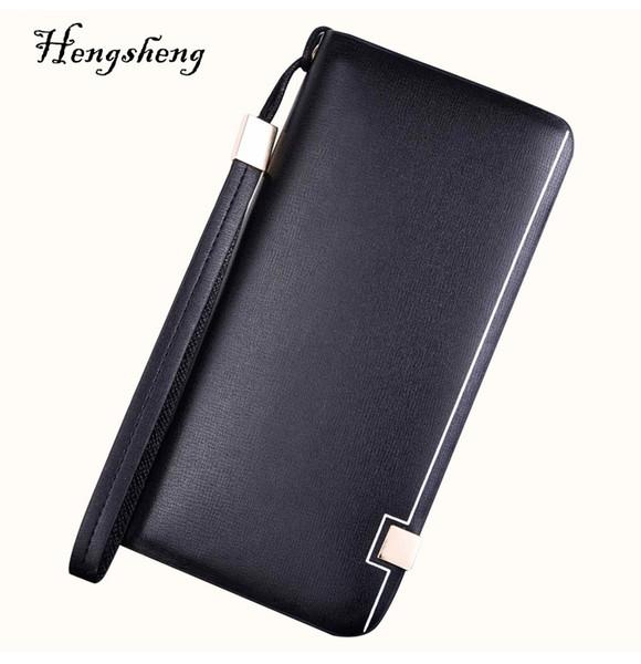 2018 Men's new luxury fashion MB wallet genuine leather wallets business card case black long card holder credit card pocket