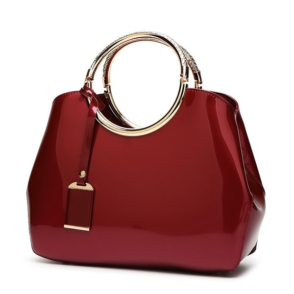 patent leather women shoulder bags 2017 new fashion pu small wedding bag party purse red famous designer handbags bolsos mujer