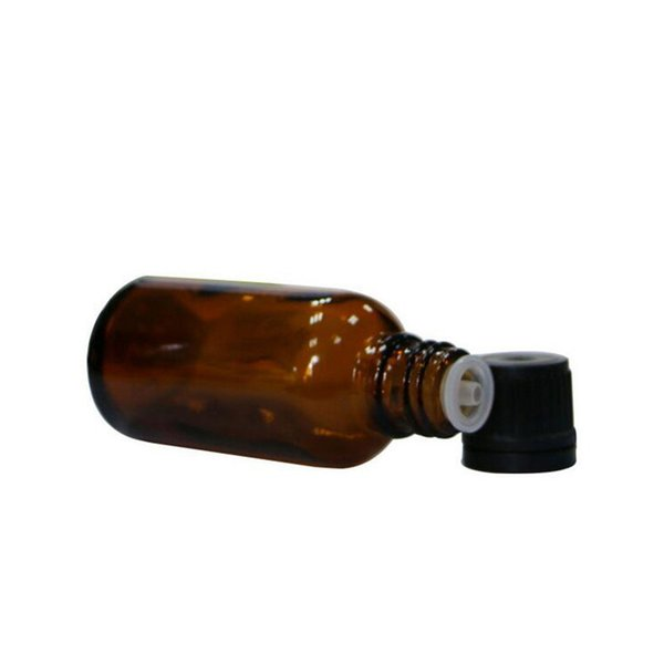 HOT 10 ml 15 ml botella de aceite esencial de vidrio ámbar de calidad con reductor de orificio y tapa vacíos frascos marrones botellas herramientas