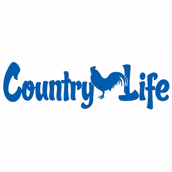 Country Life Living Rooster Chicken Car Truck Window Laptop Vinyl Decal Sticker Rear Window Car Sticker
