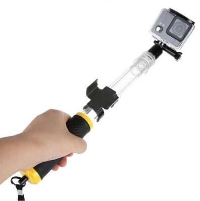For Go pro Selfie Stick Transparent Waterproof Telescopic Monopod Install Remote Control for GoPro HERO 5 Black Action Sport Cam