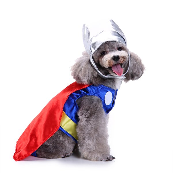 Divien Shield Superman Cosplay Cloth Dog Costume Superman Costume Set Plus Superman Hat Cute Pet Dog Dress Up Best