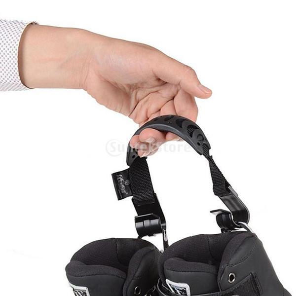 2pcs patines al aire libre correa del portador con hebilla patines en línea Scooters zapatos de patinaje cinturón colgante buckl gancho