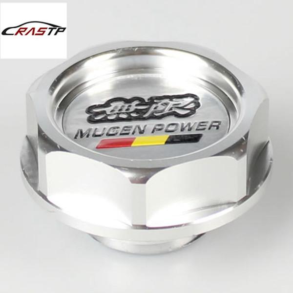 RASTP High Quality New Color Silver Aluminium Engine Oil Cap Fuel Tank Cover For Honda RS-CAP003