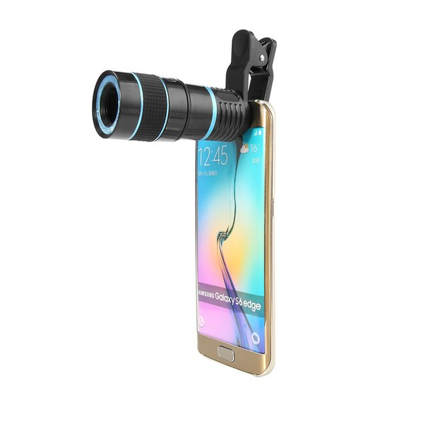 S-Mart Mobile Phone Camera Lens 8X Zoom Telescope Telephoto Optical Len with Clip for Iphone Samsung