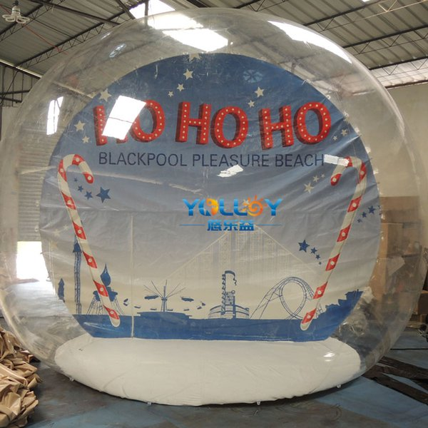 Good idear for advertising decoration huge transparent snow globe inflatable bubble tent high quality