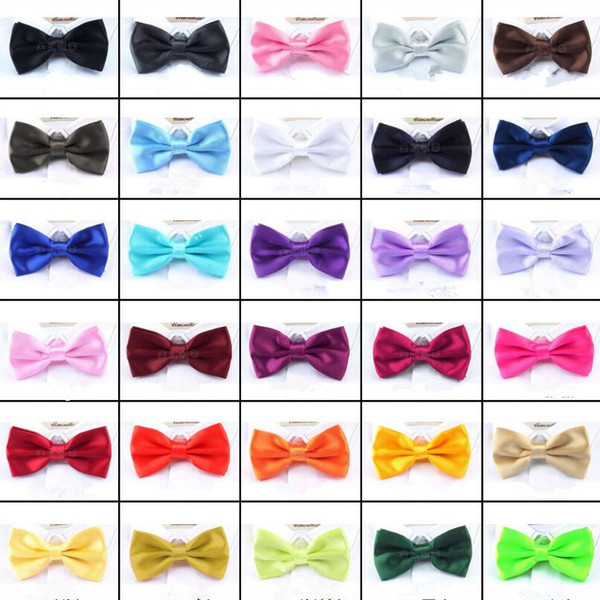top popular Men Solid Bow Ties Butterfly Gentleman Wedding Party 30 Colors Adjustable Wedding Prom boe tie 1000pcs 2020