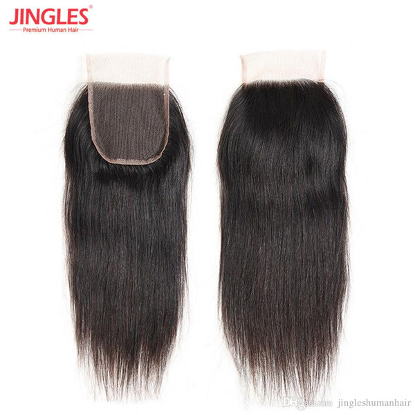 9A Raw Indian Virgin Human Remy Hair Lace Closure Straight 100% virgin Remy hair 4x4 top lace closure wholesales cheap price free shipping