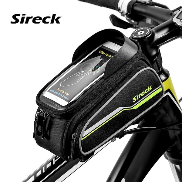"Sireck Bike Accessories Bike Bag Touchscreen Bicycle Bag 6"" Phone For Front Top Tube MTB Cycling Frame Saddle Bicicleta"