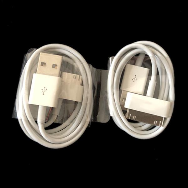 Cavo USB del cavo del caricatore di sincronizzazione della data di USB di migliore qualità 1m 3ft 30pin per il iphone 4 4s 3G ipad 2