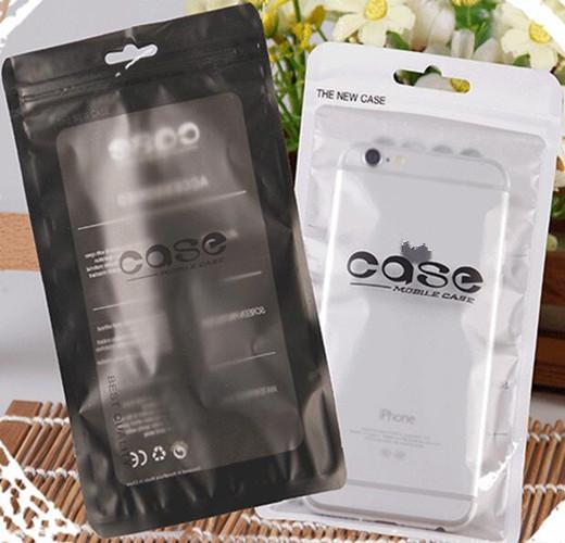 Universal 12*21cm Zip lock Mobile phone accessories case earphone matte clear PVC retail packing bag Pouch packaging bags
