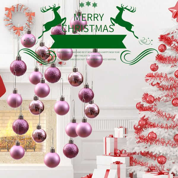Christmas Tree Balls Decorations.Pack 3cm Round Christmas Balls Decorations Party Wedding Ornament Christmas Tree Balls Party Decorations Supplies Outside Christmas Decoration