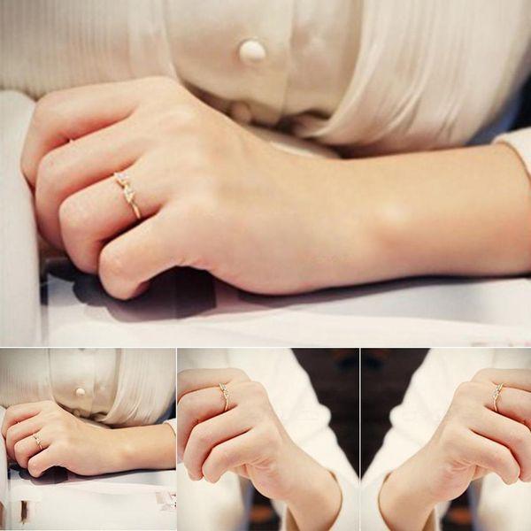Women Fashion Casual Artificial Gem Jewelry Charm Wedding Ring