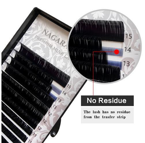 Nagaraku J, B, C, D, length of Winding 7 - 15mm mixed in a Tray Eyelash extension individual faux Mink Eyelashes False Eyelashes