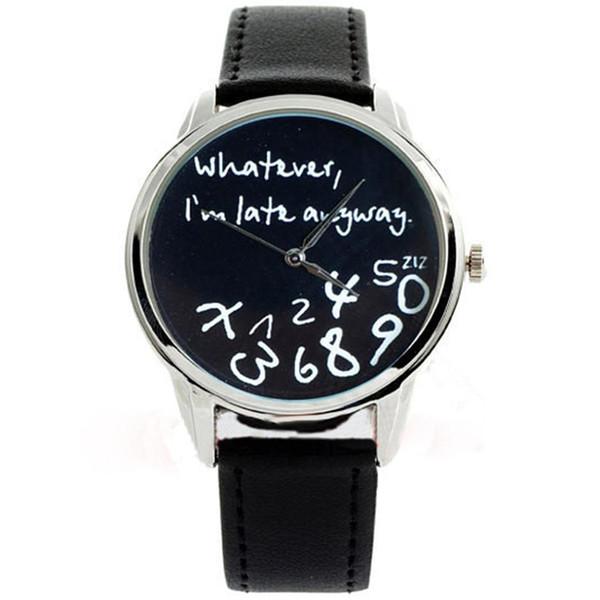 Relógios de pulso análogos de couro de Genebra da forma das mulheres do quartzo do falso redondo grande do seletor