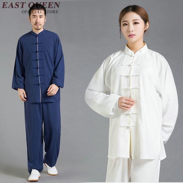 Atacado tai chi uniforme unisex wushu roupa taiji kungfu roupas de manga longa bruce uniforme S-XXXL AA2701 YQ