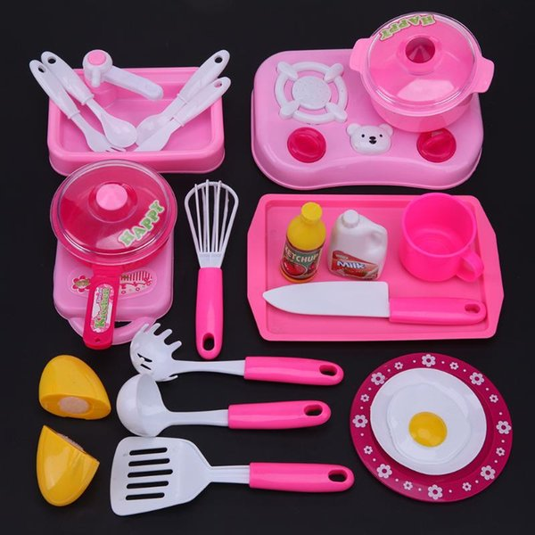top popular Mini Kids Kitchen Tool Intelligence Toy Role Play Kids Girls Pretend Play Kitchen Children's Classic toys New Year Gift 2021