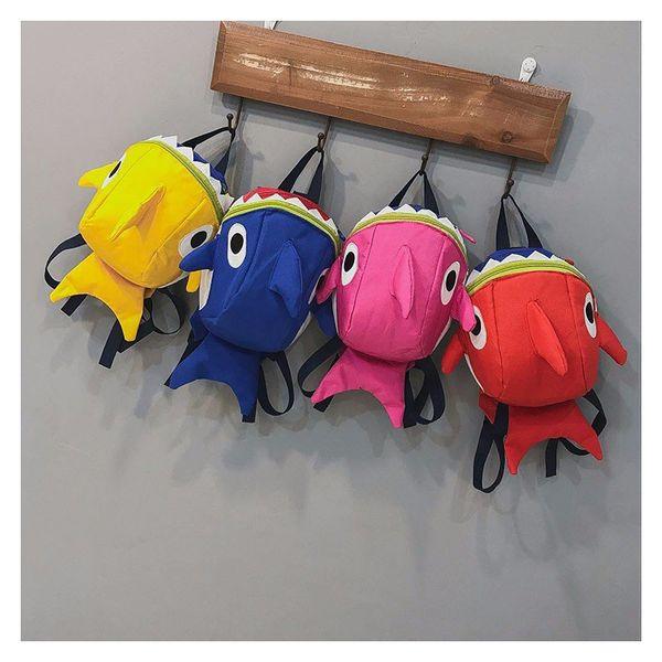 Baby Carry Bag Strap Walker Backpack Anti Lost Kid Bags Cute Shark ...